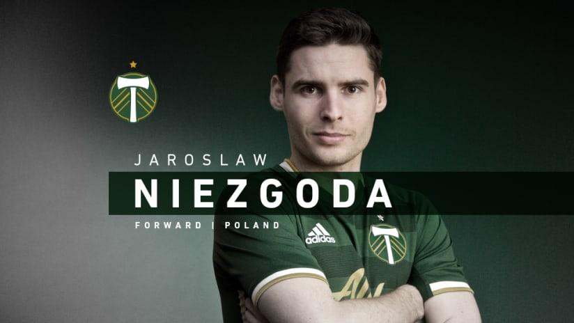 Jarek Niezgoda, Timbers announce, 1.30.20