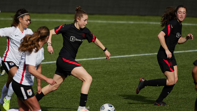 Olivia Moultrie, Thorns vs. Reign, 3.27.21