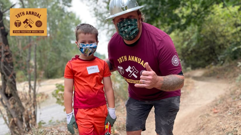 2021 Stand Together Week | Timbers and Thorns players fan out with volunteers at projects