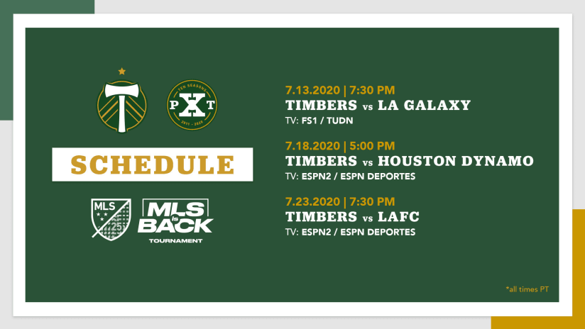 MLS is Back Tournament schedule & broadcast details announced -
