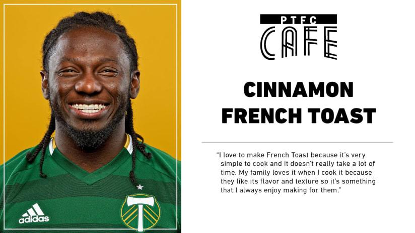 PTFC Cafe   Yimmi Chara's Cinnamon French Toast -
