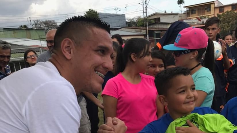 David Guzman, donating in Costa Rica, 3.27.17