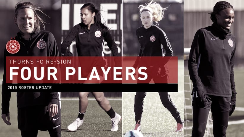 Four Players re-sign, Thorns, 3.14.19