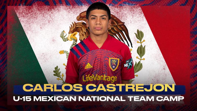 Carlos Castrejon Named to U15 Mexico National Team Roster