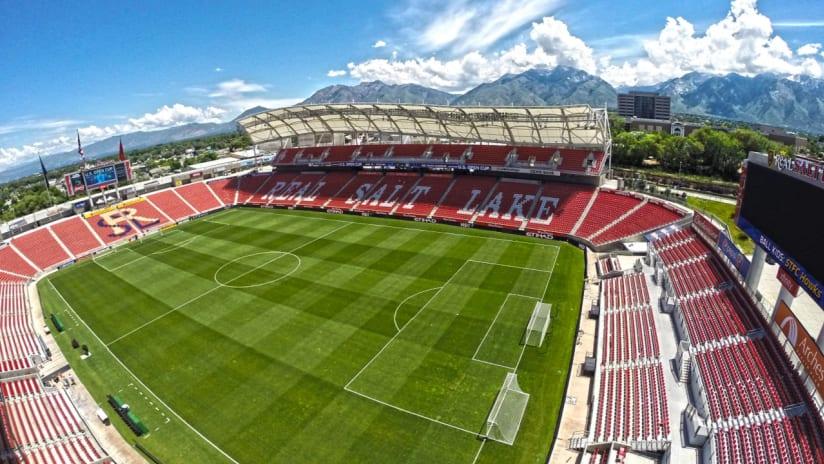 Rio Tinto Stadium Aerial 0418