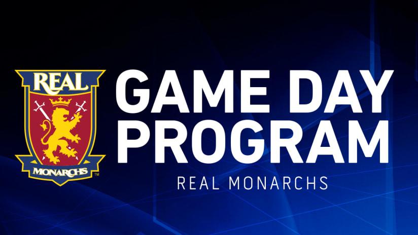 Monarchs Gameday Program Image