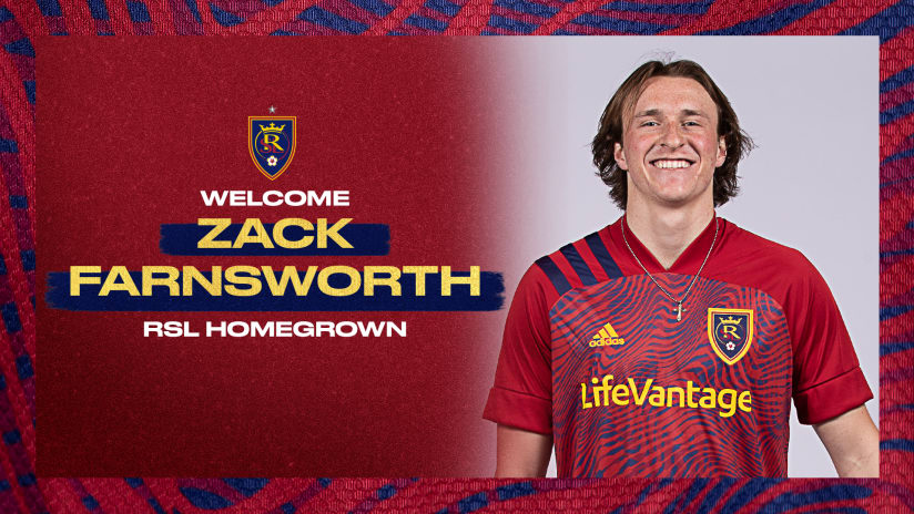 Real Salt Lake Inks Zack Farnsworth to Homegrown Contract