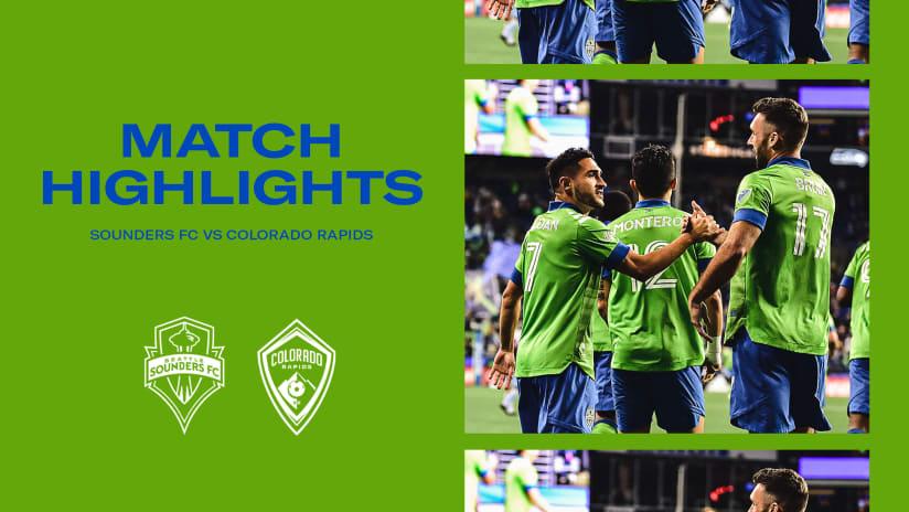 HIGHLIGHTS: Seattle Sounders FC vs. Colorado Rapids | October 3, 2021