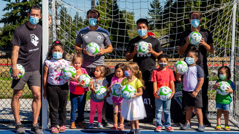 RAVE Foundation and Puyallup Tribe of Indians open a new mini pitch at Boze Elementary