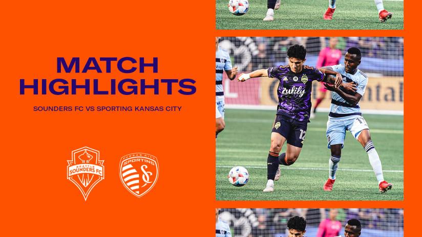 HIGHLIGHTS: Seattle Sounders FC vs. Sporting Kansas City | July 25, 2021