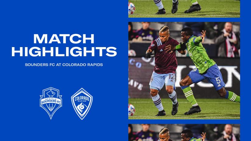 HIGHLIGHTS: Colorado Rapids vs. Seattle Sounders FC | October 20, 2021