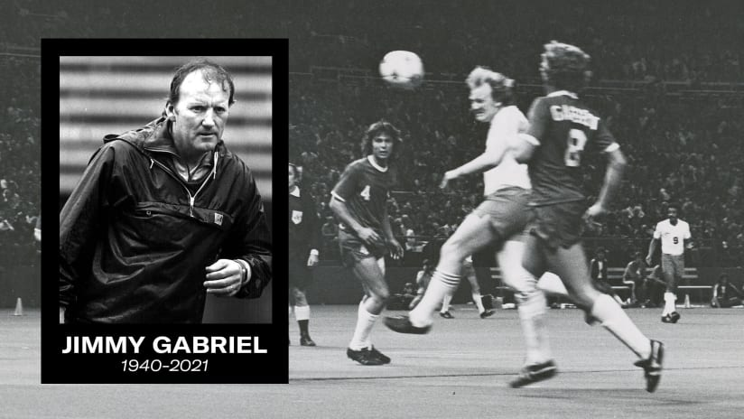 Sounders FC honors legacy of Seattle soccer icon Jimmy Gabriel at this Sunday's heritage-themed match, presented by WaFd Bank