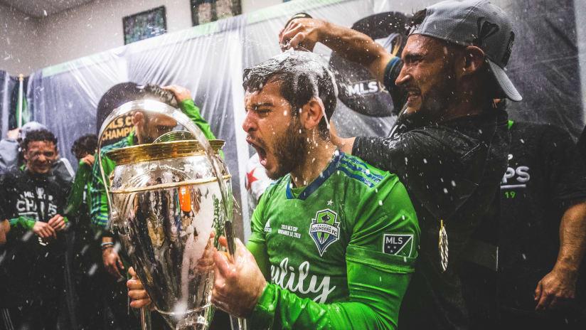 Rodriguez MLS Cup celebration