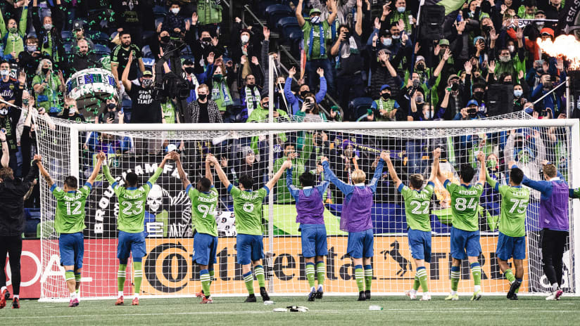 With postseason spot clinched, the Seattle Sounders set their sights on first in the Western Conference