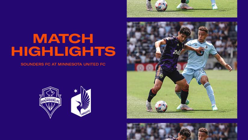 HIGHLIGHTS: Minnesota United FC vs. Seattle Sounders FC | July 18, 2021