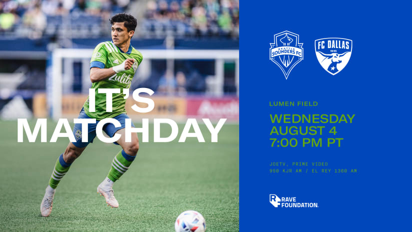 SEAvDAL 101: Everything you need to know when the Seattle Sounders host FC Dallas, pres. by Ticketmaster