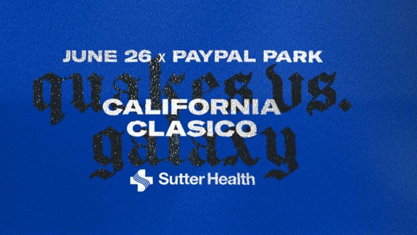California Clasico - Full Capacity - 2021 - San Jose Earthquakes