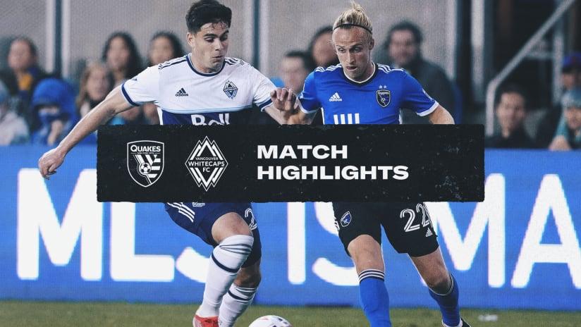 HIGHLIGHTS: Quakes vs. Whitecaps FC | October 23, 2021