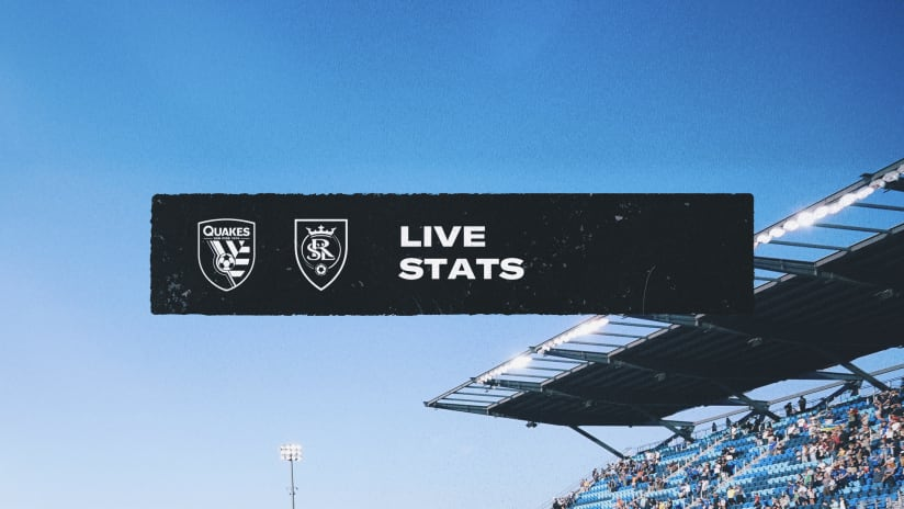 LIVE STATS: San Jose Earthquakes vs. RSL | September 15