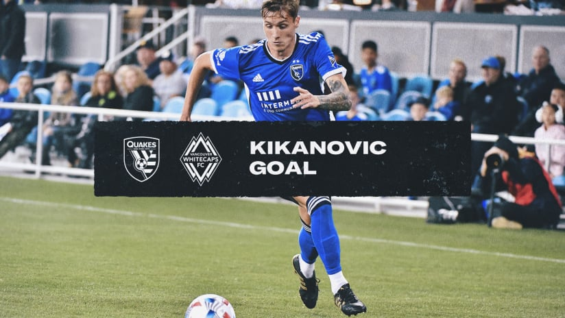 GOAL: WHAT A VOLLEY! Benji Kikanovic finishes at the back post!