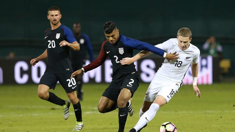 Kip Colvey - New Zealand - US Soccer - International Friendly - 2016
