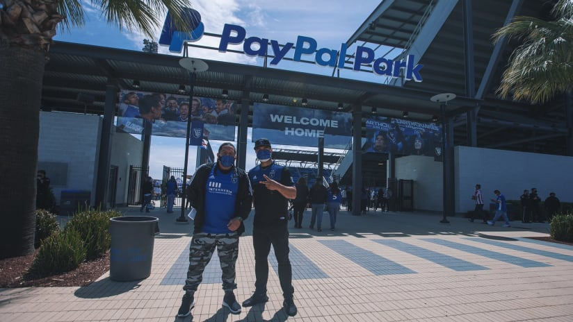 Welcome back to paypal park 2021