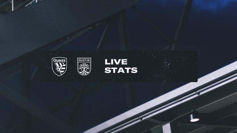LIVE STATS: San Jose Earthquakes vs. Austin FC | Oct. 20, 2021