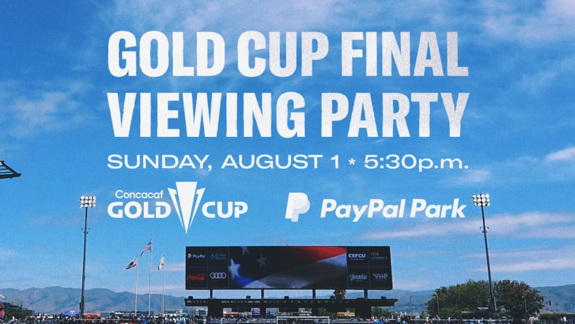 RSVP: USA vs. Mexico Gold Cup Viewing Party at PayPal Park