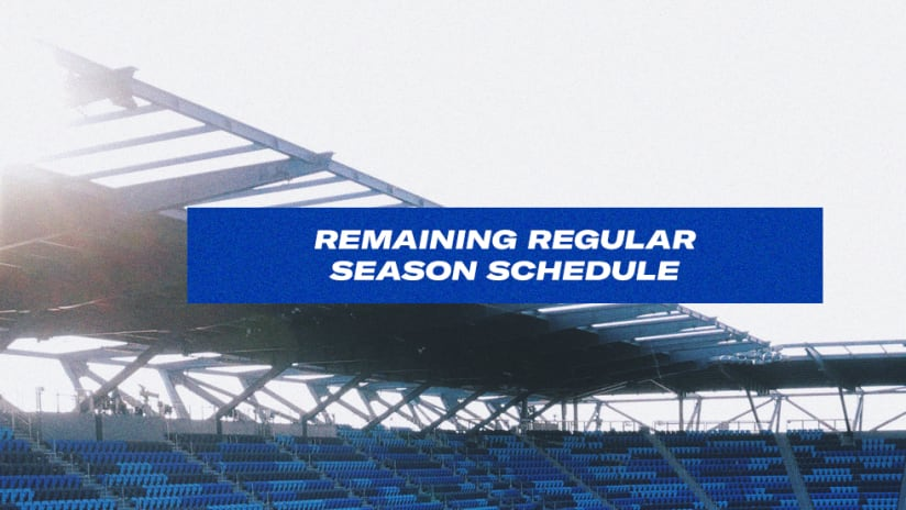 Remaining Schedule - 2020 - San Jose Earthquakes