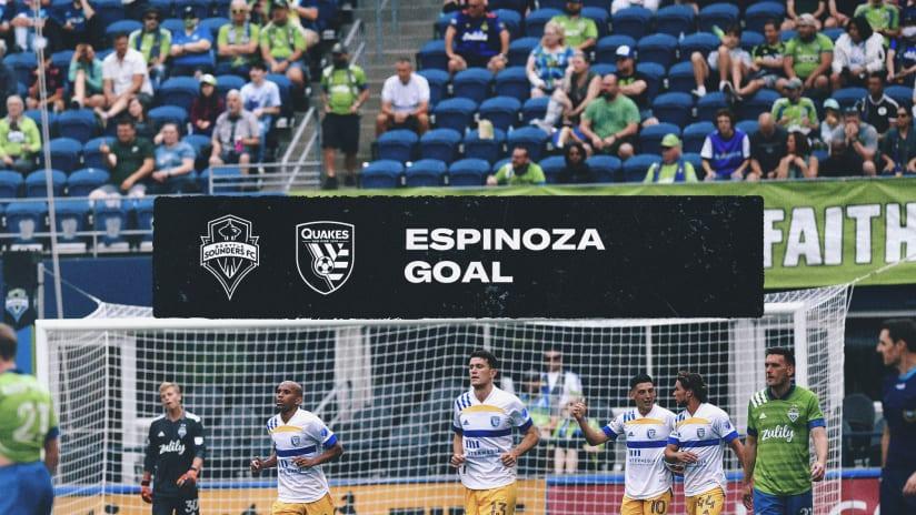 GOAL: Cristian Espinoza tallies his second goal of the season