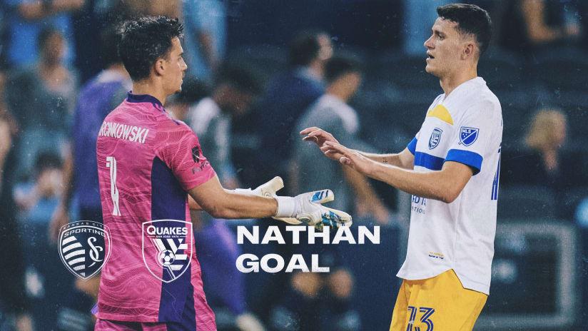 GOAL: Nathan scores his first goal for San Jose