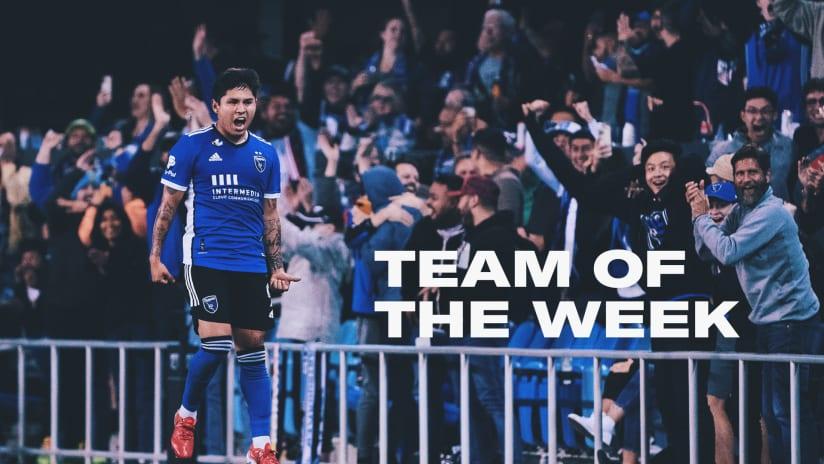 NEWS: Earthquakes midfielder Chofis named to MLS Team of the Week