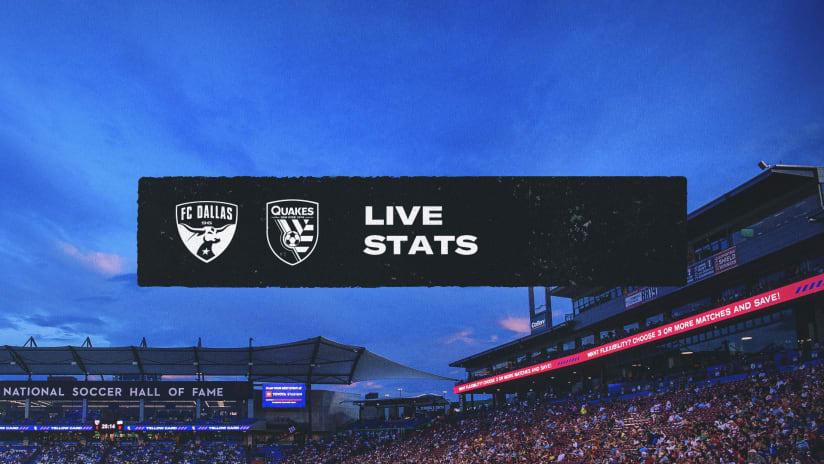 LIVE STATS: San Jose Earthquakes vs. FC Dallas   September 11