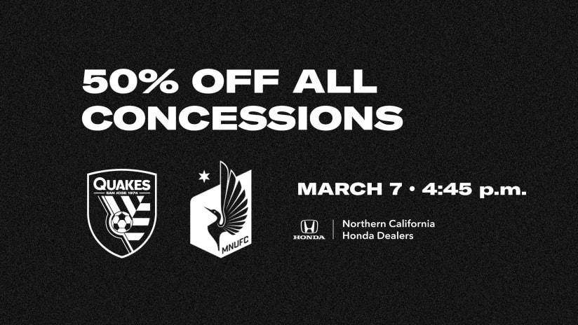 50% concessions