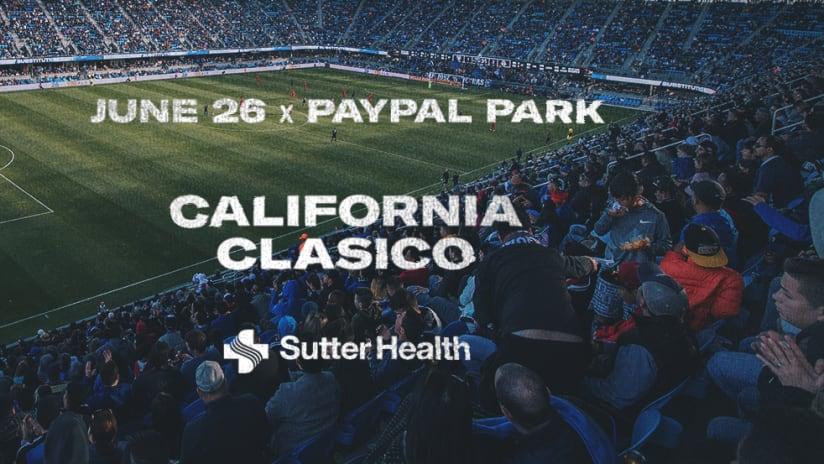 Full Capacity - San Jose Earthquakes - 2021 - LA Galaxy - California Clasico