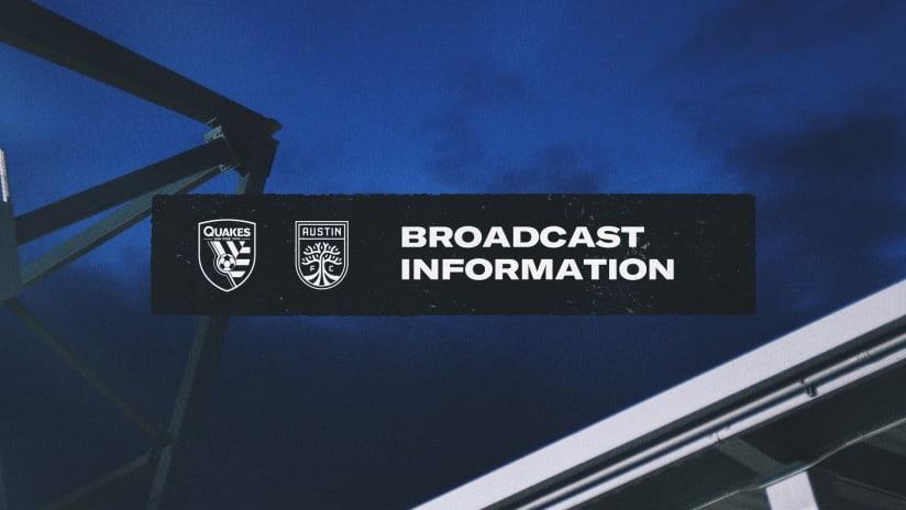 BROADCAST INFO: #SJvAustinFC | October 20, 2021