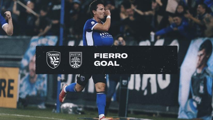 GOAL: Fierro scores fourth goal of the match against Austin FC