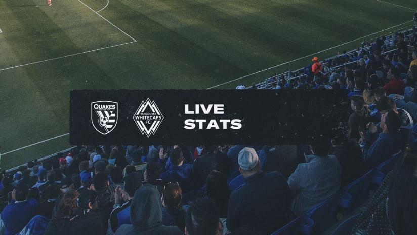 LIVE STATS: San Jose Earthquakes vs. Whitecaps FC | October 23
