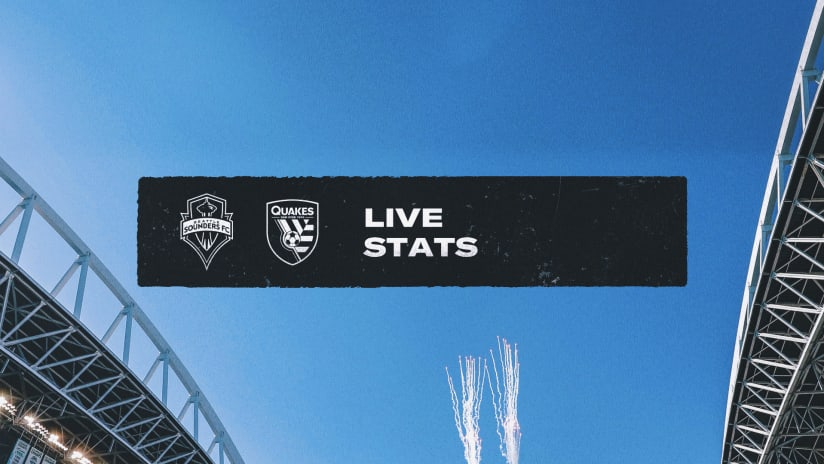 LIVE STATS: San Jose Earthquakes vs. Seattle Sounders FC | July 31