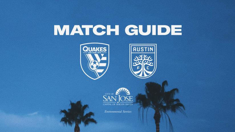 MATCH GUIDE: Quakes vs. Austin FC | October 20, 2021