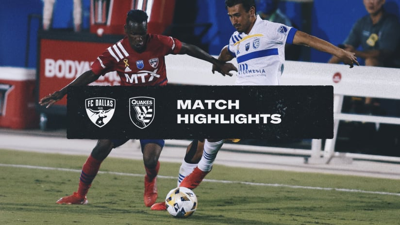 HIGHLIGHTS: Quakes tie on the road against FC Dallas | September 11, 2021
