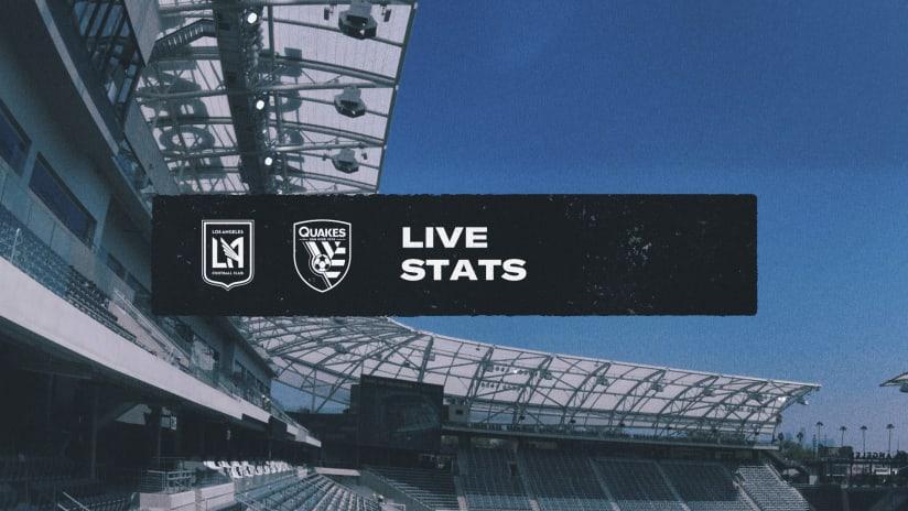 LIVE STATS: San Jose Earthquakes vs. LAFC | Oct. 16, 2021