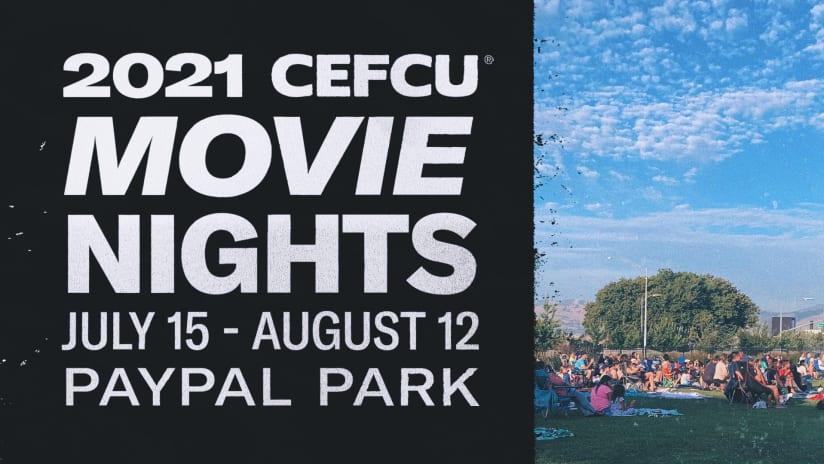 NEWS: CEFCU Movie Night Series returns to PayPal Park