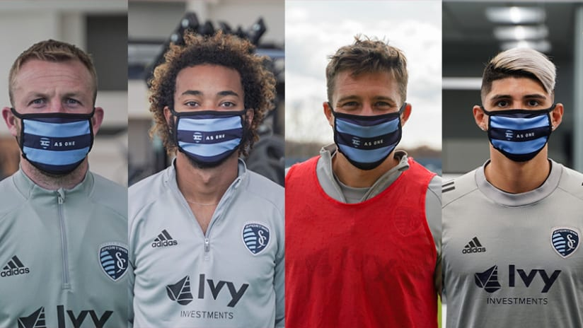 KC As One Mask Campaign - Player photos