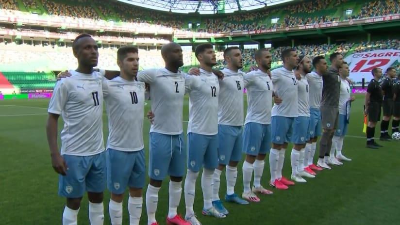 Gadi Kinda starting XI - Israel at Portugal - June 9, 2021