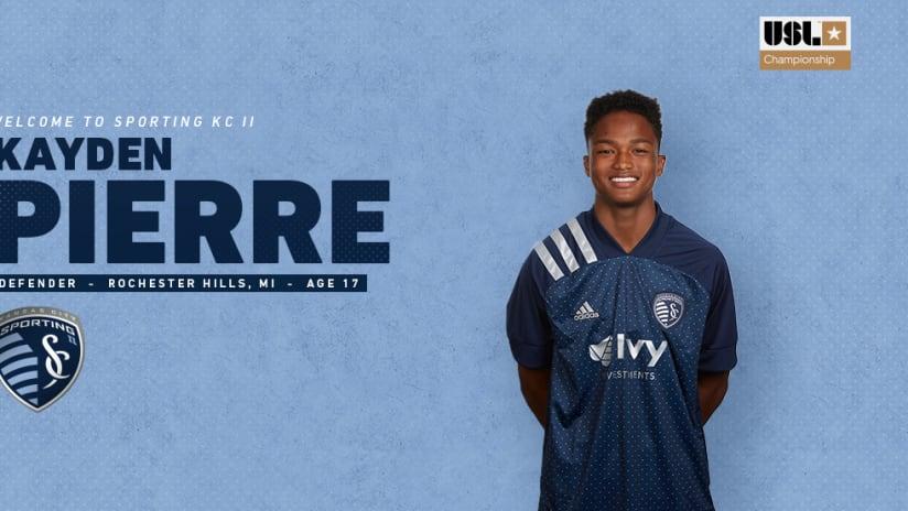 SKC II Signs Kayden Pierre