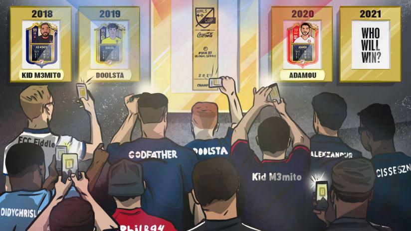 2021 eMLS Cup illustration