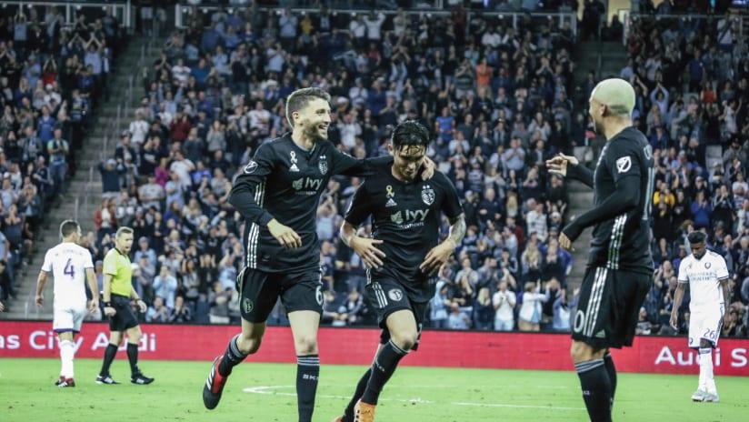 Felipe Gutierrez celebration - Sporting KC vs. Orlando City SC - Sept. 8, 2018