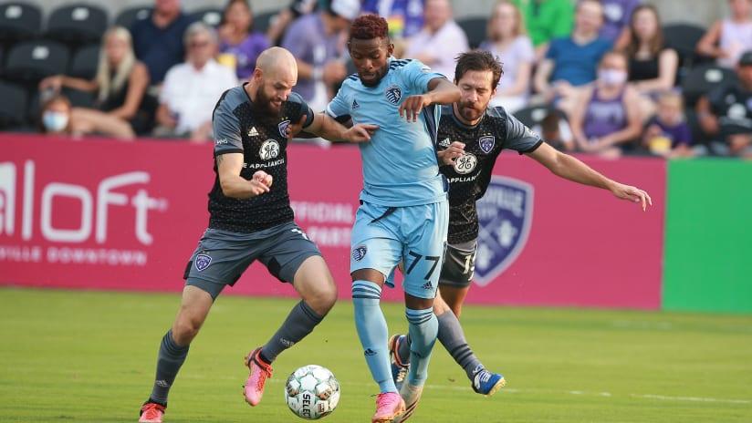 Enoch Mushagalusa - Sporting KC II at Louisville City FC - Aug. 7, 2021