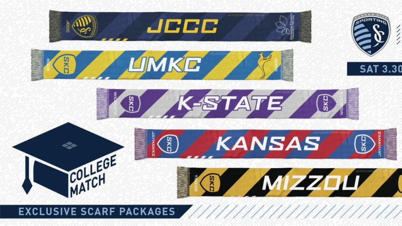 2019 College Scarf Day - Sporting KC vs. Montreal Impact - March 30, 2019